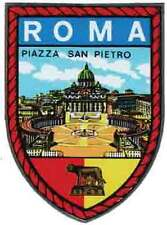 Roma  (Rome)   Italy     Vintage  1950's-Style  Travel Decal/Sticker