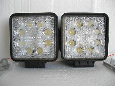 2 X PIECES LED WORK LIGHT SQUARE BRIGHT 24 WATTS INC MOUNTING BRACKET