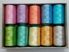 LOT - FLUORESCENT 150/2 Denier Viscose Rayon Thread Yarn Hand Machine Embroidery
