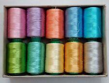 LOT - FLUORESCENT 150/2 Denier Viscose Rayon Thread Yarn Hand Machine Embroidery