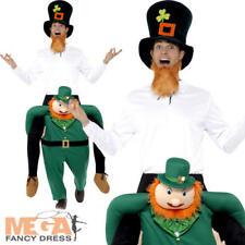 Piggyback Paddy's Leprechaun Mens Ladies Fancy Dress Irish Funny Ride On Costume