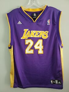 VTG Adidas NBA Los Angeles Lakers Kobe Bryant 24 Purple Jersey Youth XL 18-20