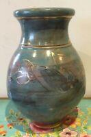 Stunning Vintage  Pottery Vase Signed