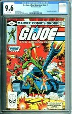 G.I. JOE A REAL AMERICAN HERO 1 CGC 9.6 WP NEW NON-CIRCULATED CASE MARVEL 1982
