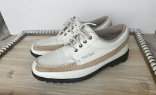 Footjoy Spikeless Golf Shoes Size 7.5 US Mens Women's Brown And White