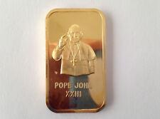 1973 American Silver Editions Pope John XXIII AS-1G Silver Art Bar P2010