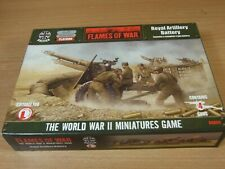 NEW IN BOX METAL AND RESIN FLAMES OF WAR ROYAL ARTILLERY BATTERY
