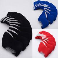 10pcs Universal Golf Club Protective Head Covers Protector Portable Set