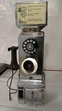 Vintage Western Electric Chrome Gray Telephone Pay Station 3-Slot Payphone Keys