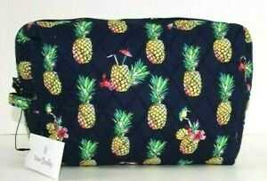 Vera Bradley LARGE COSMETIC TOUCAN PARTY Case Travel Bag Quilted Cotton