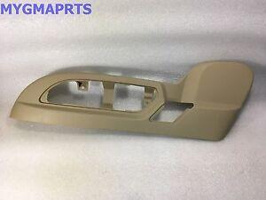 GMC ACADIA TAN DRIVERS SEAT SWITCH BEZEL TRIM W/LEATHER SEATS 2010-2012 25941790