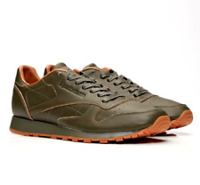 Reebok CL Leather Lux Kendrick Classic Mens UK 6 EU 39 Olive Green Trainers NEW
