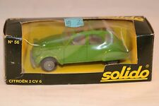 Solido 56 Citroen 2CV6 2 CV 6 green 1:43 perfect mint in original box