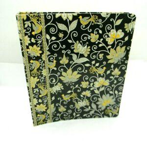 Vera Bradley Notebook 3 Ring Binder Yellow Birds Paisley Black