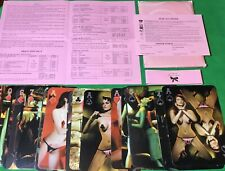 More details for old vintage  agent provocateur  21x15cm advertising girls lingerie playing cards
