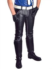 Mister B Leather FXXXer Jeans All Black or Black-White GAY 100 % Leder/Leather