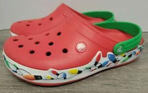 Crocs Holiday Lights Christmas Women's Size 8 Men's Size 6 Red Light Up
