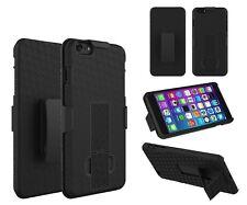 iPhone 8 Plus, 7 PlusRugged Slide Holster Belt Clip Case Cover w/ Kickstand