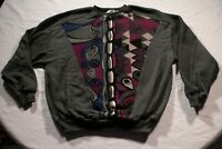 Vintage St. Croix Knits Cavato Sweater Abstract Cosby Multi-Color Biggie L