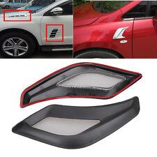 Pair Universal Car Decorative Air Flow Intake Scoop Bonnet Side Fender Vent Hood