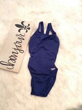 Speedo Womens Swimsuit Size 6/32 Navy Performance One Piece Bathing suit (BH)