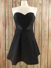 Sparkle and Fade Dress Strapless Black Size 0 NWT $59