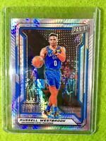 RUSSELL WESTBROOK PRIZM CARD JERSEY #0 OKC REFRACTOR /99 SP 2019 National VIP SP