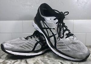 Asics Mens Gel Kayano 24 T749N Black Gray Shoes Low Top size 13