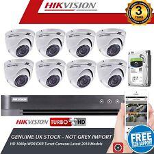 HIKVISION 8Ch Dvr & 8x HD TVI 1080p Camera's High Definition CCTV Camera System