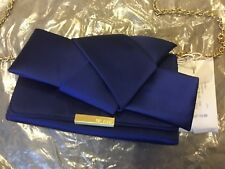 BNWT GENUINE Ted Baker BLUE FEFEE Knot Evening Clutch Bag / Purse Chain Strap