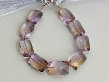 AAA Natural Ametrine Faceted Rectangle Chicklet Semi Precious Gemstone Beads
