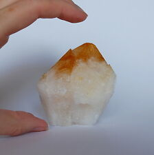 Large Citrine Double Crystal Point - 7x6.5x5cm - 233g