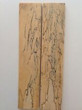 """Spalted Hickory Knife Handle/Craft Blanks 3/8"""" X 2"""" X10"""""""