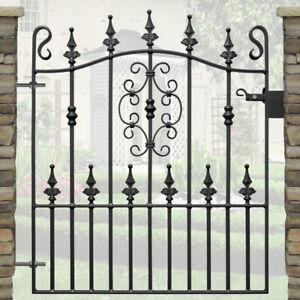 3ft High Ornate Wrought Iron Metal Garden Gate-3ft (914mm) opening - TYNE DESIGN