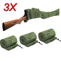 3PC Large Gun Sock Cover Silicone Treated Hunting Rifle Shotgun Protection Cover
