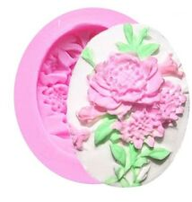 Beautiful Flower Cameo Silicone Mold for Fondant, Gum Paste, Chocolate, Crafts