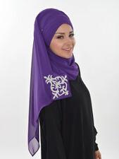 Cs-39 velo finito praticamente Hijab Chiffon türban Esarp Sal tesettür Khimar