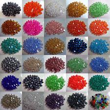 Wholesale!100pcs 4/6/8mm Crystal 5301# Bicone Beads U Pick Color