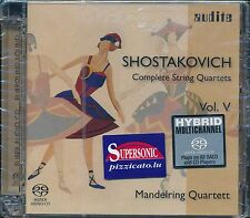 Shostakovich Complete String Quartets Vol V 5 Hybrid Multichannel CD NEW SACD