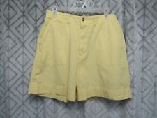 Basic Editions Shorts Size 12 Yellow Flat Front Button Zipper Pockets Belt Loops