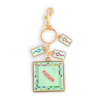 Hasbro Monopoly Board With Card Charms Metal Keychain Unisex