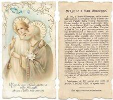 SANTINO CON  ORAZIONE A SAN GIUSEPPE - PAPA LEONE XIII  1889