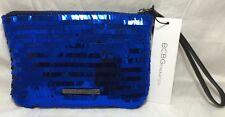New BCBGeneration Blue Women Cute Purse Handbag Clutch Sequin Wristlet Size NS