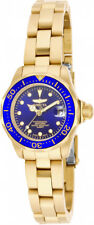Invicta Women's Pro Diver Quartz 200m  Gold Plated Stainless Steel Watch 17036