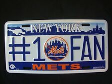 NEW Rico Industries New York Mets #1 Fan Multi-Color License Plate MLB Baseball
