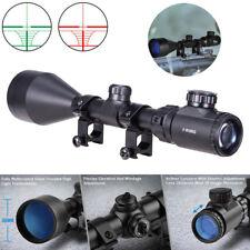 3-9X56 EG Hunting Red Green illuminated Mil-Dot Optical Gun Rifle Scope + Mount