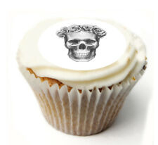 Cupcake Topper skull personalised Rice, Icing sheet 1003