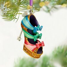 "Disney "" Good Fairies "" from Sleeping Beauty Runway Shoe Christmas Ornament New"