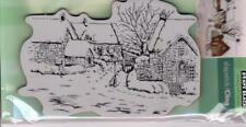 New Penny Black RUBBER STAMP Christmas Holiday free us ship TRANQUIL HAMLET