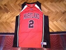 Maryland Terrapins Terps NCAA#2 jersey basketball Russell athletic stitched sz L